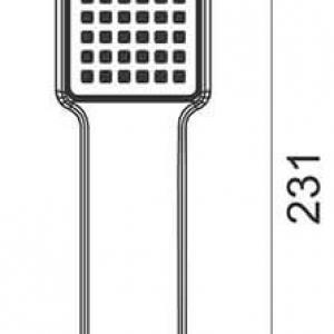 Zuhanyfej QUADRO 1 funkciós S110