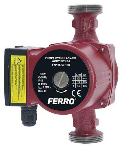 Ferro 25-60 180 Keringetőszivattyú ivóvízre