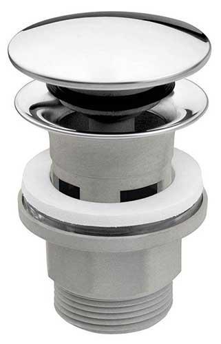 Ferro Click-clack lefolyószelep G5/4 túlfolyós mosdóhoz