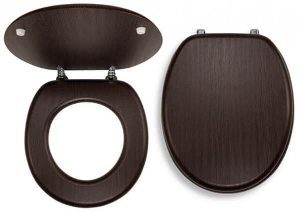 Wenge WC-ÜLŐKE Krómozott réz rögzítőellemekkel