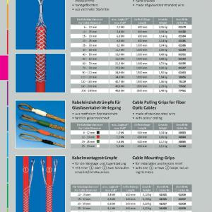 kábelhúzó harisnya, optikai kábelhez 6 - 12 (fekete)