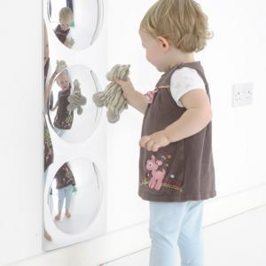 Buborékos tükör- keret nélküli