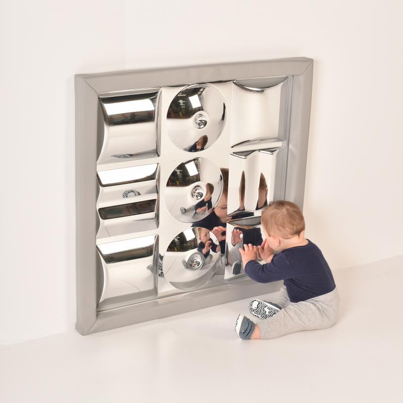 9 buborékos homorú-domború szenzoros tükör puha kerettel