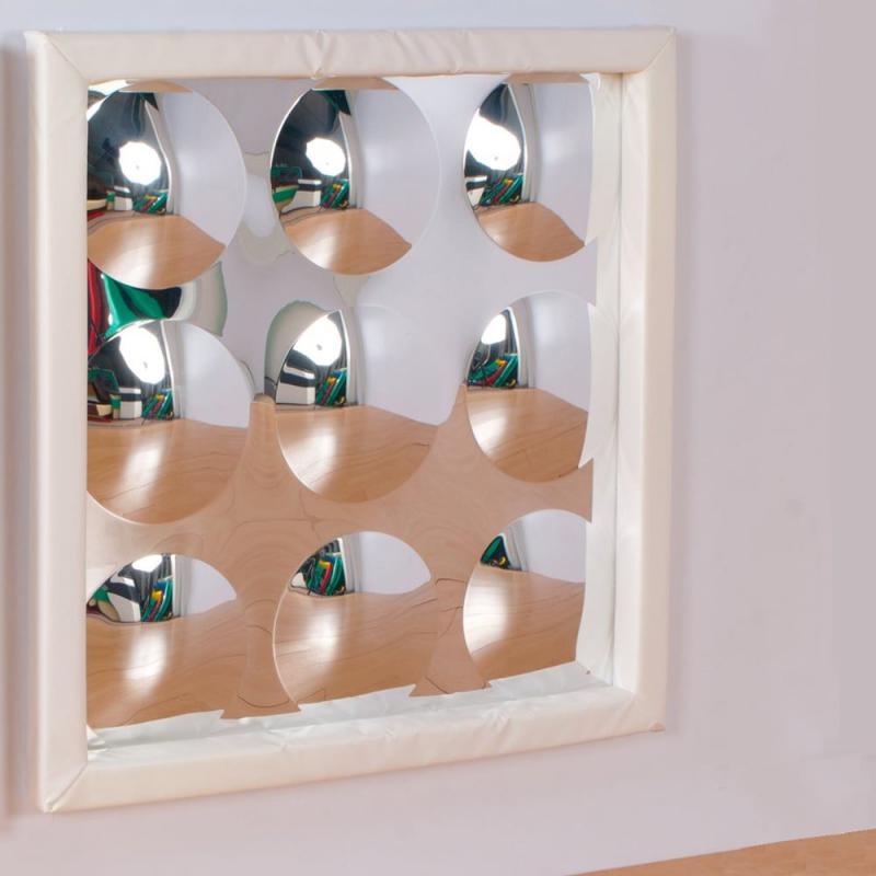 9 buborékos, szenzoros domború tükör puha kerettel