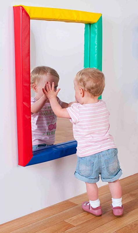 Biztonságos gyermek tükör puha kerettel (kicsi)