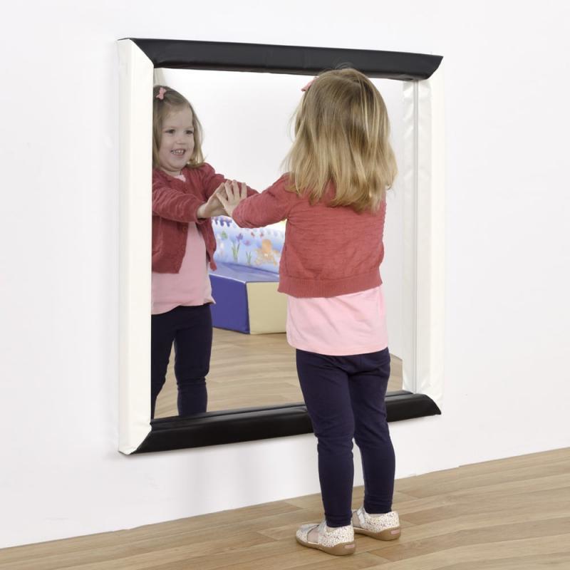 Biztonságos gyermek tükör puha kerettel (nagy)