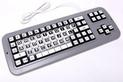 Clevy Keyboard black/whiteqwerty layout lower case