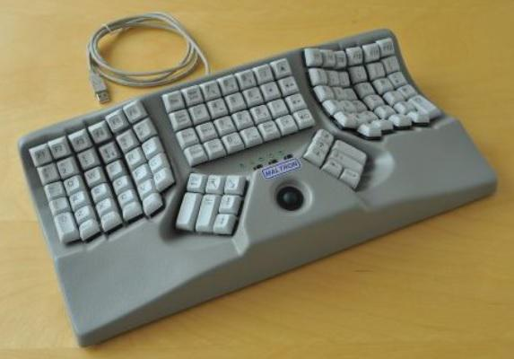 Maltron 3D keyboard with integral mouse