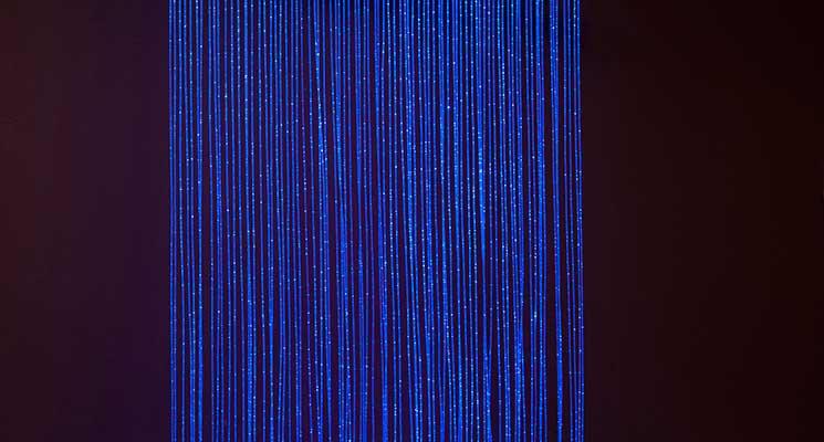 Optikai szálas fényfal (66db/2m)