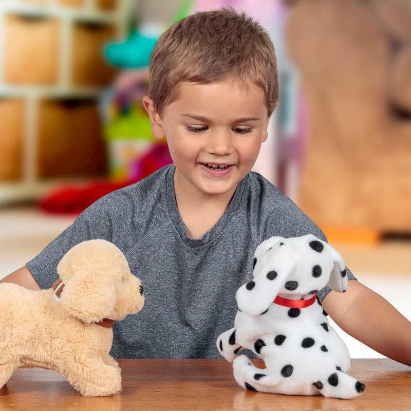 Plüss kutyus - kapcsolóval működtethető plüss játék