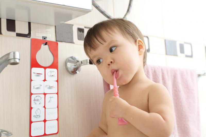 Tanulok fogat mosni! - rajzos, mágneses folyamatábra fogmosáshoz