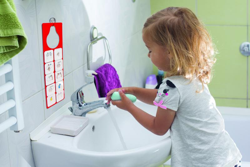 Tanulok kezet mosni! - rajzos, mágneses folyamatábra kézmosáshoz