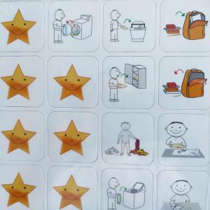 Mágneses Piktogramok a Gyerekek Jutalmazásához