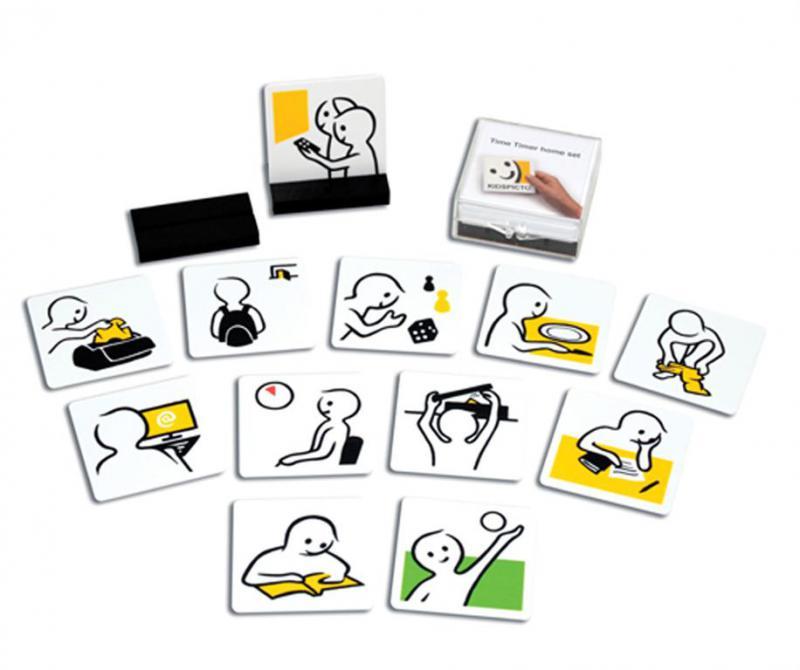 TimeTimer napirendi kártya készlet, otthonra (12 db/szett)