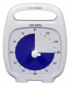TimeTimer PLUS, fehér, 120 min.
