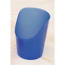 Vágott, rugalmas műanyag pohár, kék, 60ml (5db/csomag)
