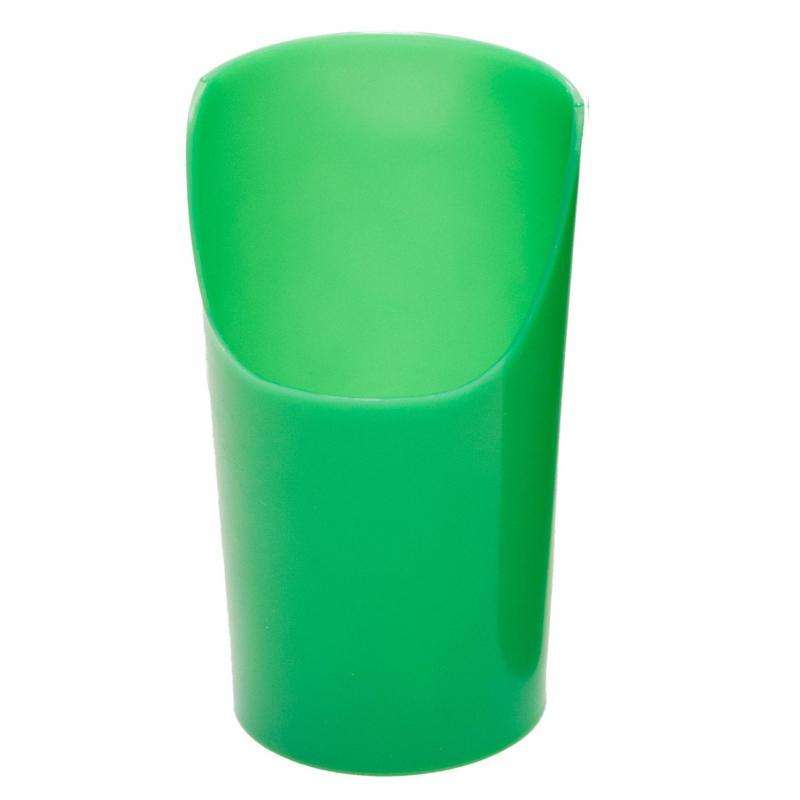 Vágott, rugalmas műanyag pohár, zöld, 200 ml (5db/csomag)