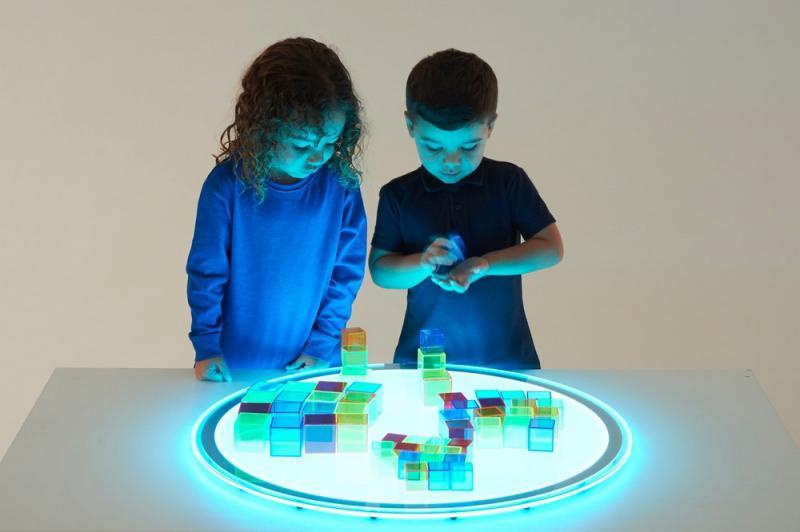 Világító panel kerek változtatható színnel