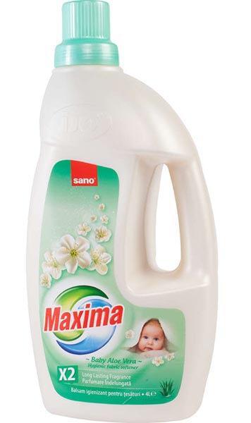 Sano Maxima illatosított öblítő Baby aloe vera 4L