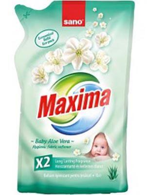 Sano Maxima illatosított öblítő Baby aloe vera  Utántöltő 1 l