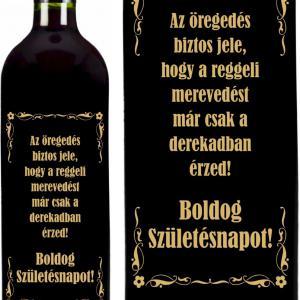 vicces feliratú és fémcímkés borok