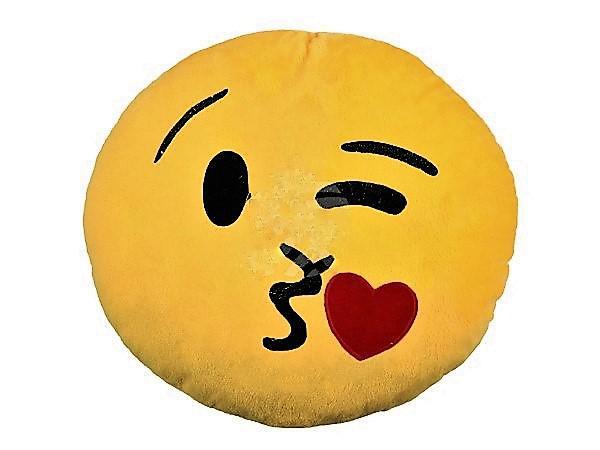 emoji párna csók