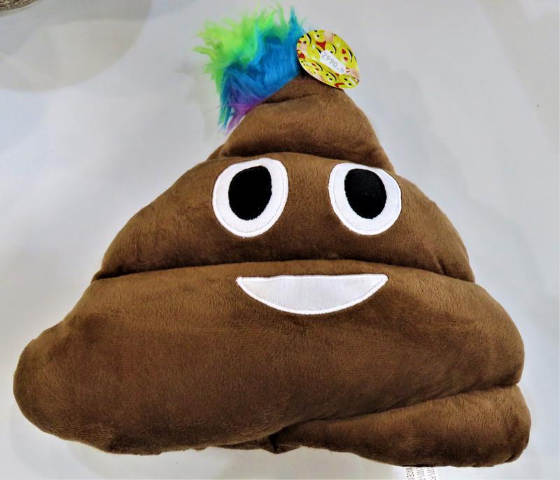 emoji párna kaka troll kékes hajjal