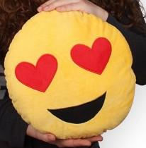 emoji  párna szív szem