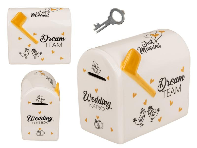 esküvői persely postaláda