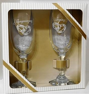 esküvői pezsgőspohár pár