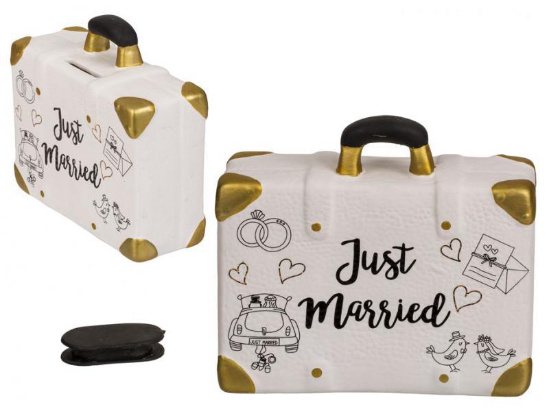 esküvőre persely, bőrönd