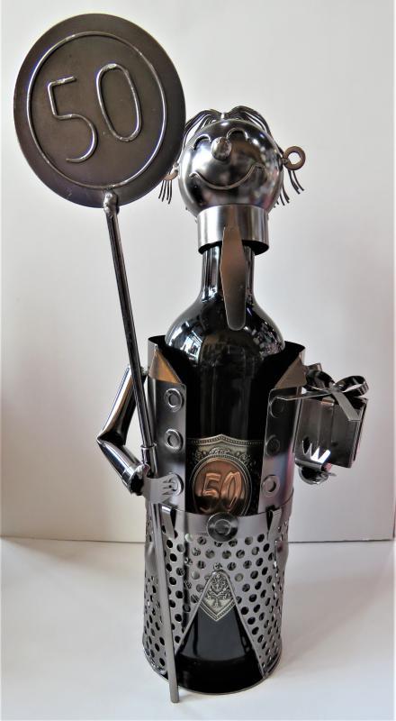 fém bortartó 50. születésnapra