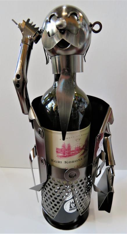 fém bortartó főnök, manager