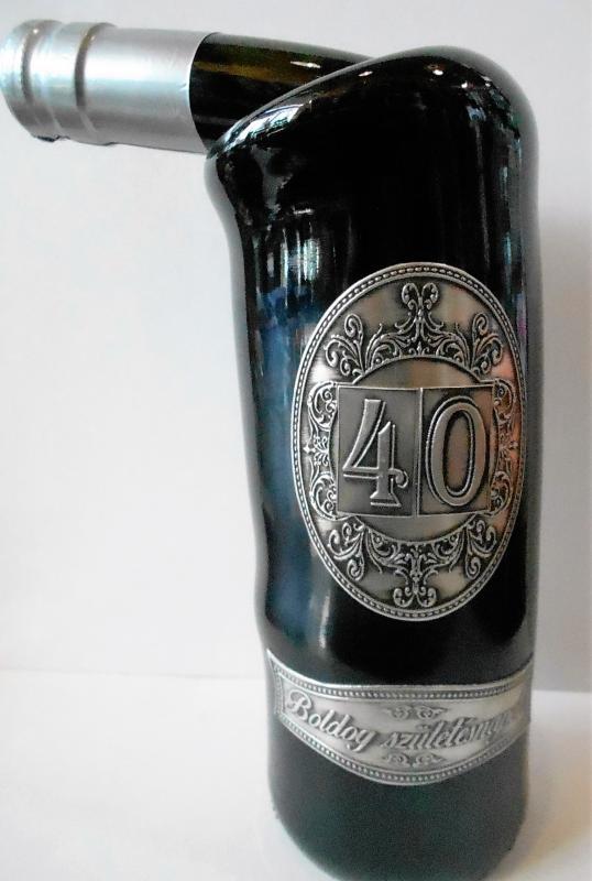 fémcímkés bor 40. születésnapra