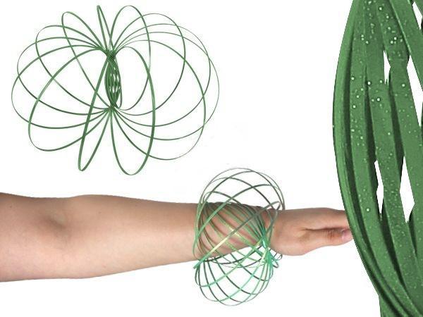 flow ring, magic ring türkiz zöld glitteres