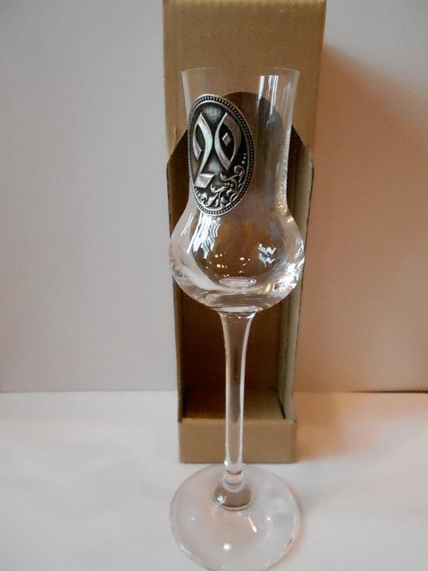 grappás pohár 20. születésnapra