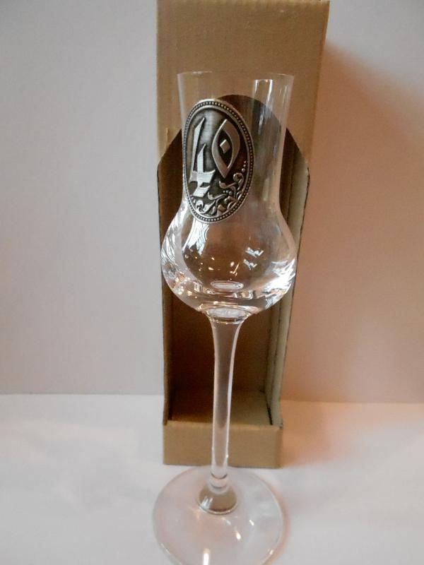 grappás pohár 40. születésnapra