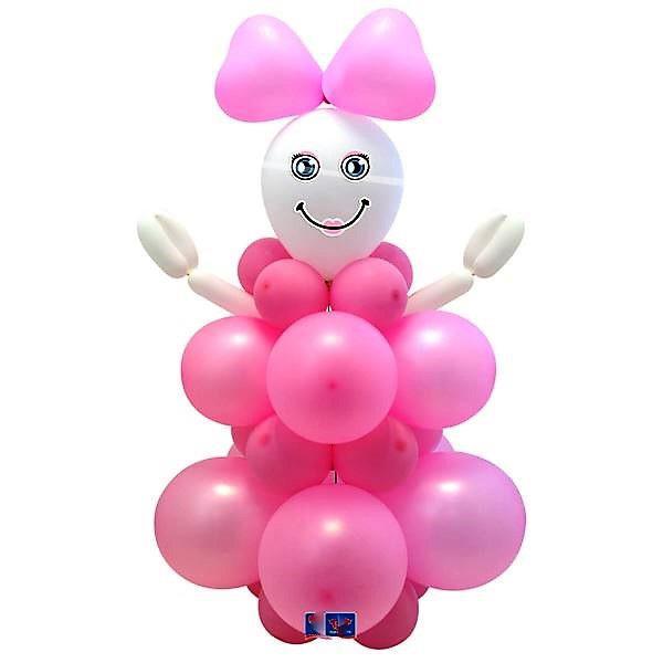 gumilufi szett rózsaszín baba váró