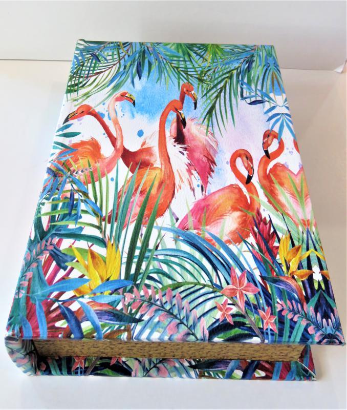 könyvdoboz flamingó L