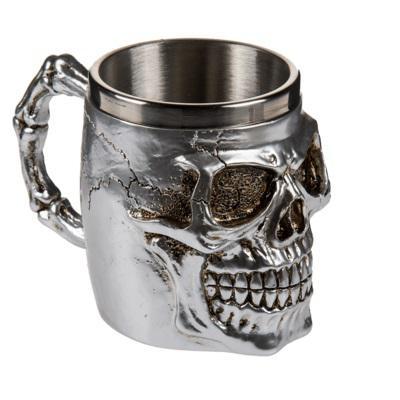 koponya bögre koponya forma ezüst