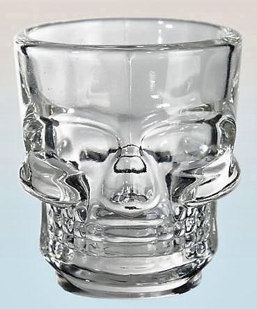 koponya feles pohár 4db