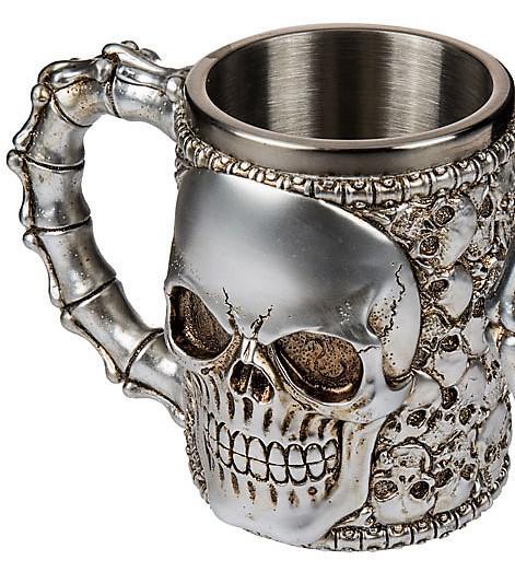 koponya söröskorsó ezüst koponyákkal