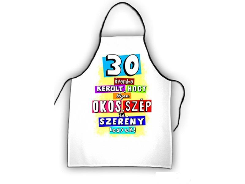 kötény 30. születésnapra színes