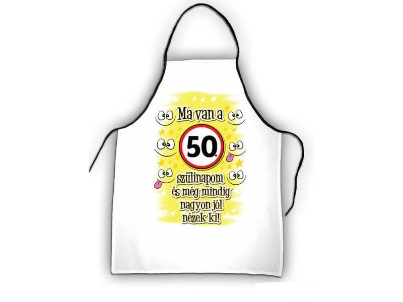 kötény 50. születésnapra, ma van