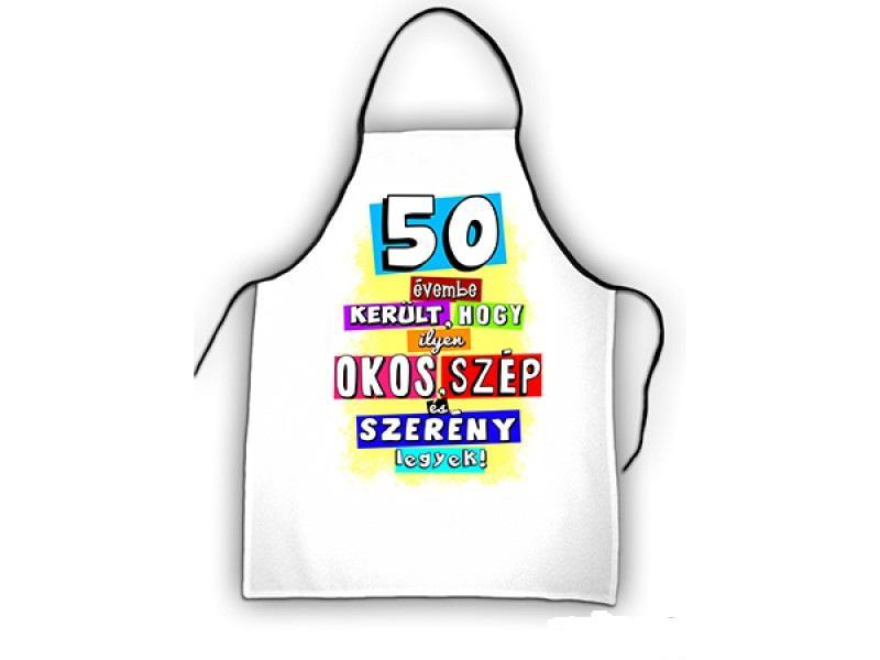 kötény 50. születésnapra színes
