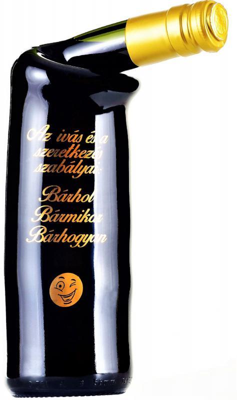 különleges palackozású bor az ivás