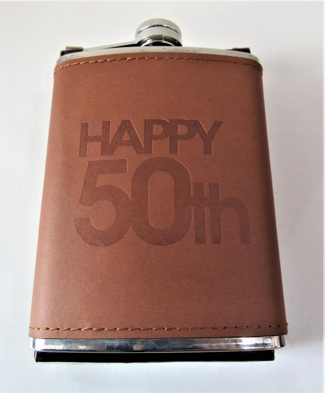 laposüveg, flaska 50. születésnapra barna