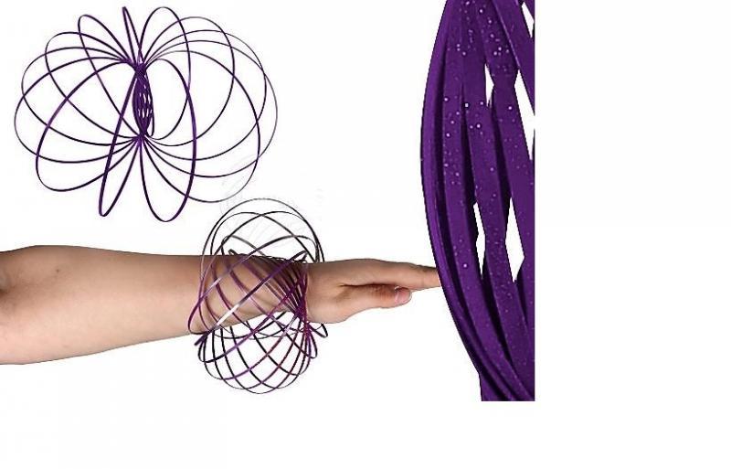 magic ring, flow ring lila glitteres