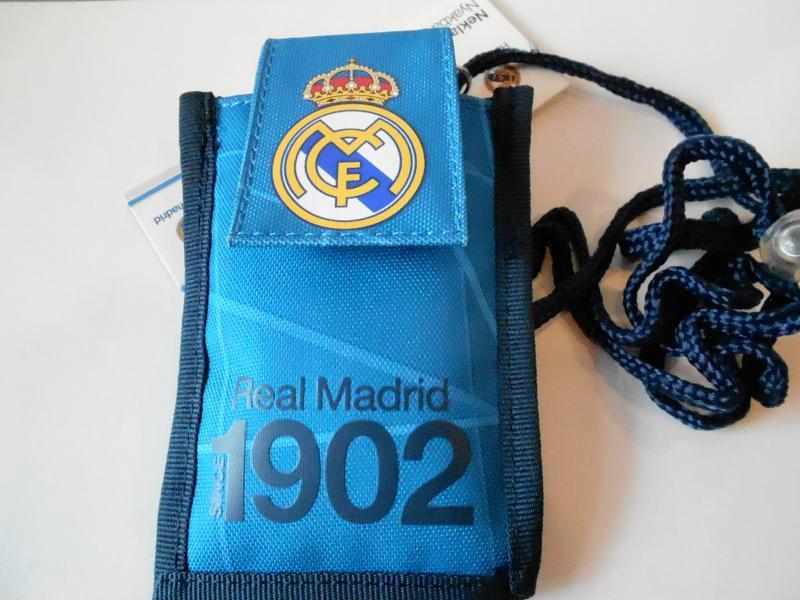 real madrid pénztárca nyakba kék
