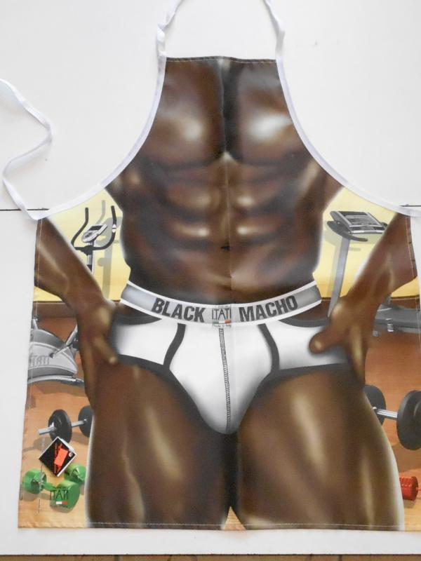 vicces szexi férfi kötény  black macho